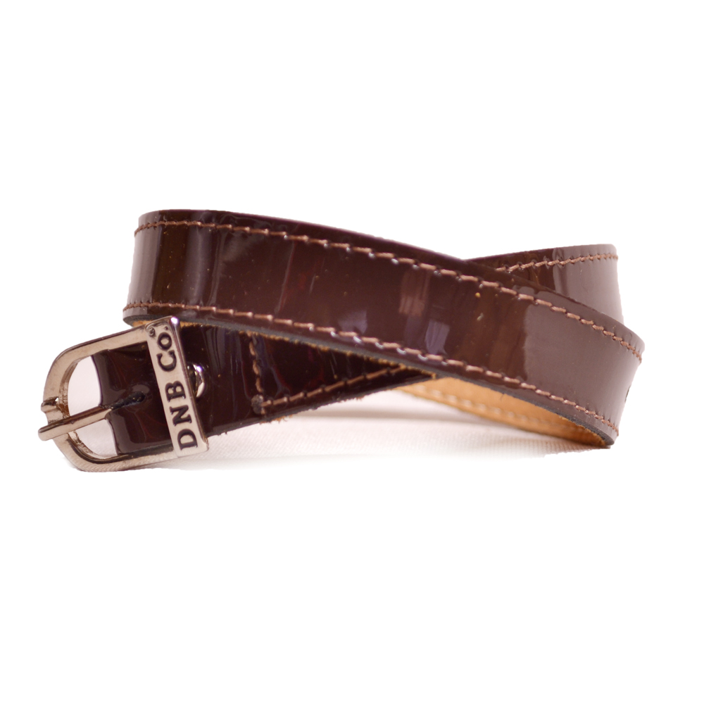 Patent Brown Spur Straps