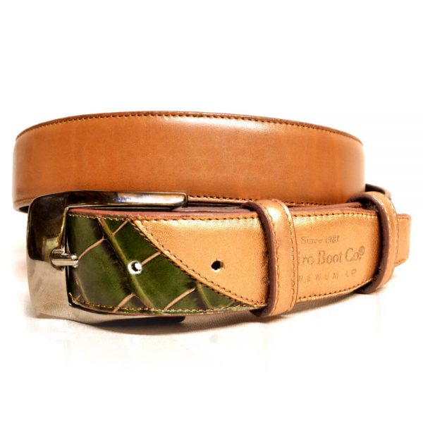 De Niro Belt Green Croc
