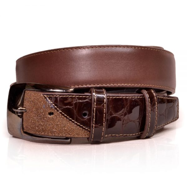 De Niro Belt Stardust Brown/Lucido