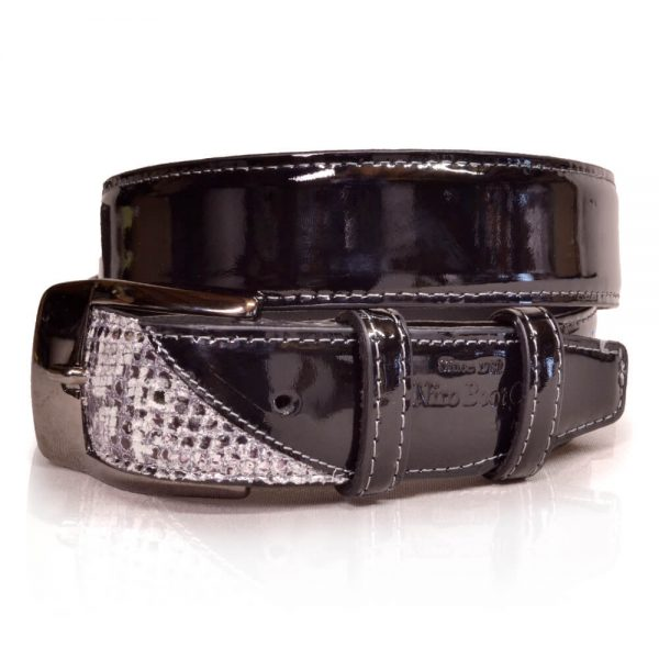 De Niro Belt Roccia/Black Patent