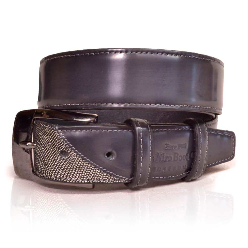 De Niro Belt Brushed Grey/Venezia