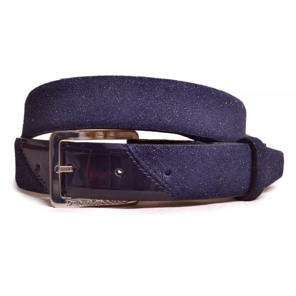 DeNiro Belt Stardust and Patent Navy